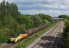 70808 Souldrop (Gridboy56) Tags: uk railroad england train bedfordshire trains locomotive lindsey ge railways locomotives colas railfreight colnbrook 70808 class70 souldrop 6e38 colasrail