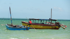 Pushing Dhow Off the Sand, Vilanculos, Mozambique (dannymfoster) Tags: ocean africa indianocean mozambique dhow mocambique vilankulo vilanculos