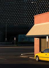 Gray Corner (Andrew_Dempster) Tags: urban car au australia adelaide sa southaustralia yellowcar sahmri