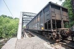 Ilchester (6-11-16)-008 (nickatkins) Tags: longexposure railroad bridge sky water graffiti bridges rail tunnel bluesky ironbridge rails railroads