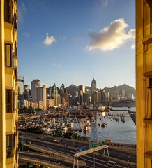 View from my window (NL60D) Tags: hongkong causewaybay afternoon boat skyline victoriaharbour harbour clouds blueskies sunny skyscrapers photography travel travelphotography asia northasia colourful travels wanderlust beautifulimages ngc china greaterchina
