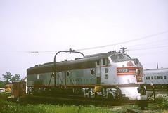 CB&Q E8 9973 (Chuck Zeiler) Tags: railroad burlington turntable aurora locomotive e8 chz emd cbq 9973