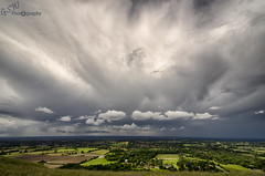 Storms over the South (Gavmonster) Tags: uk trees sky white storm green rain weather clouds landscape grey sussex nikon unitedkingdom fluffy wideangle fields thunderstorm lightning eastsussex thunder stormchasing ditchlingbeacon stormchaser ukstorm 1024mm d7000 nikond7000 gswphotography