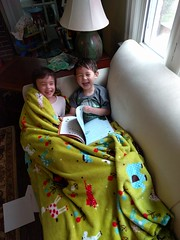 2016-05-27 18.56.53 (whiteknuckled) Tags: reading friend lily classmate lucas couch