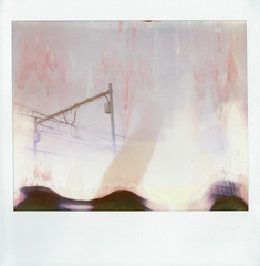 (daveknapik) Tags: abstract film polaroid newjersey jerseycity image accident nj instant spectra damaged accidental imperfections softtone
