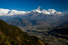 Machapuchare - Sarangkot, Nepal (Terranova Photography) Tags: nepal people mountain mountains sunrise trekking trek landscape landscapes hiking peak hike valley sunrises peaks himalaya pokhara himalayas sarangkot landscapephotography mountainvalley mountainranges machapuchare trekkinginnepal himalayamountains machapuchhare