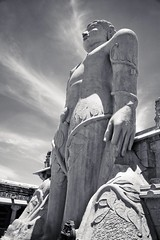 The statue of Gommateshvara Bahubali at Śravaṇa Beḷgoḷa