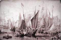 Trade Vessels on the Mersey (Penlinken) Tags: rivermersey liverpoolpostcards