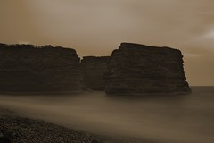 Ladram Bay 3 (Doug Hauser) Tags: sea sandstone rocks devon ladrambay sonynex