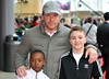 Guy Ritchie with sons David and Rocco The worldwide Grand Opening event for the Warner Bros. Studio Tour London 'The Making of Harry Potter' held at Leavesden Studios London, England