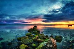 Schlechtwetter (dubdream) Tags: ocean sea sky seascape water clouds sunrise germany landscape boats nikon meer balticsea fisheye explore ostsee hdr schleswigholstein d300 heiligenhafen colorimage sigma10mm dubdream