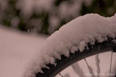 Just craving for a little bit of sun (3) (Sous l'Oeil de Sylvie) Tags: snow cold bike spring pentax qubec april neige bicyclette avril printemps froid vlo 2012 beauce tamron90mm k7 sousloeildesylvie
