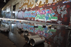 warehouse hunting (da good sheet) Tags: reflection graffiti bay paint can spray east warehouse roller production civ icp sker rusto