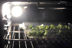 day 3. smoke (~*~...nicole...~*~) Tags: food cooking lights oven smoke broccoli foodporn stove day3 roasting junephotochallenge