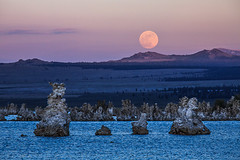 Sunset Full Moon Rise over Mono Lake (Jeffrey Sullivan) Tags: california park copyright usa lake jeff nature june canon landscape photography mono photo google state south nevada basin sierra lee photowalk sullivan eastern tufa 2012 vining 5dmarkiii