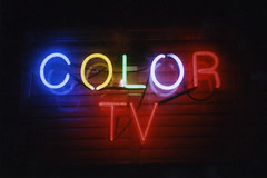 Color TV (Nick Leonard) Tags: city vegas blue red food green film window beautiful television yellow night 35mm restaurant italian colorful neon fuji purple lasvegas gorgeous nevada nick scan nighttime 35mmfilm fujifilm neonsign buccadibeppo yashica 400asa eatery expiredfilm carlzeiss fujisuperiaxtra400 tessar colorfilm yashicat4 colortv epson4490 fujisuperiaxtra expired2006 nickleonard believeinfilm