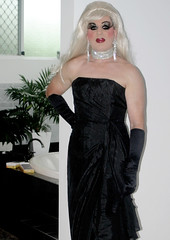 Black Evening Gown (Christine Fantasy) Tags: transsexual shemale