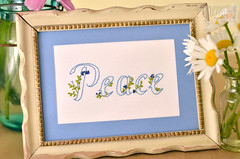 """""""Peace"""" by Clementine Patterns (Simply Vintagegirl) Tags: blue summer green love thread fruit daisies spring pattern peace hand needlework stitch handmade spirit embroidery sewing crafts joy free craft sew homemade frame download daisy jar pdf needles blueberries embroideries byhand embroider freedownload fruitofthespirit"""