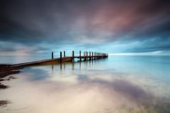 Quindalup serenity (Luke Tscharke) Tags: longexposure colour sunrise geotagged jetty lee wa westernaustralia peir boatramp quindalup heliopan 5dmkiii 5d3 5dmarkiii thepowerofnow geo:lat=3363156079695959 geo:lon=11514901412062386