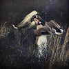 to protect and defend (brookeshaden) Tags: girl grass birds animals fairytale tall whimsical textured protect fineartphotography defend brookeshaden texturesbylesbrumes