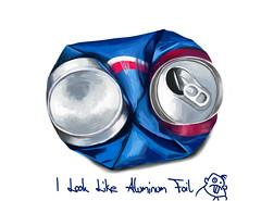 Blue Foil? (LeanThirteen) Tags: blue art digital photoshop wow painting print design amazing aluminum eric artist drawing foil johnson coke can painter soda 13 sai crushed ericanthony lean13 leanthirteen