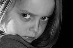 Kid with attitude (mreastwood) Tags: kid nikon child flash daughter australia angry nikkor tamron