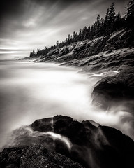 Acadian Coast (Nate Parker Photography) Tags: longexposure blackandwhite anp maine barharbormaine mainecoast acadianationalpark haveaniceday blackandwhitelongexposure acadianationalparkpictures acadianationalparkimages blackandwhiteacadia fineartmaine acadiaart