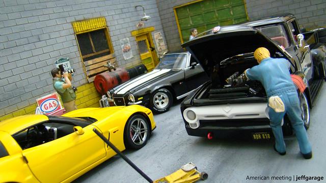ford 1971 f100 camaro corvette diorama 118 z28 z06 diecast autoart ertl diecaster jeffgarage