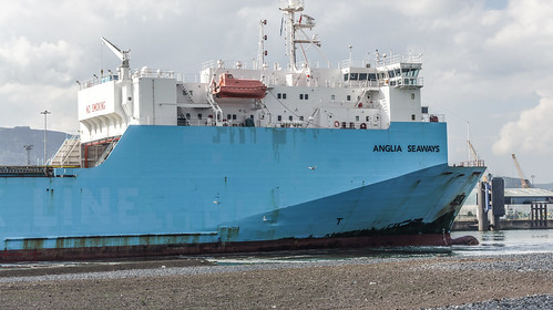 Anglia Seaways is a roll on-roll off freight ferry 142.5 metres in length