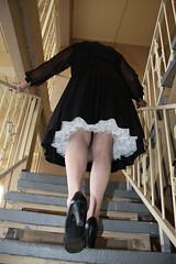 new44932-IMG_2387xtg (Misscherieamor) Tags: stairs tv feminine cd motel tgirl transgender mature sissy tranny transvestite upskirt slip crossdress ts gurl petticoat tg travestis travesti travestie m2f xdresser tgurl