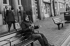 Morning Drink! (jim-green777) Tags: city uk england urban blackandwhite bw monochrome 50mm nikon britain derbyshire streetscene monotone fullframe fx derby 2014 d610 nikkor50mm sreets jimgreenphotographer