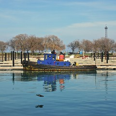 Chicago, 2014 (gregorywass) Tags: blue lake chicago water season harbor boat flying duck spring sailing michigan april tender 2014 diversey