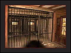 Old West Jail Cells (the Gallopping Geezer 3.8 million + views....) Tags: cinema newmexico santafe film set canon movie interior room cell jail western makebelieve 2009 wildwest geezer corel oldwest eavesmovieranch hoosecal