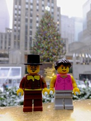 Better Together (In my hands they crumble) Tags: christmas nyc usa snow newyork tree statue lights arthur big december lego bokeh annabelle iceskating rockefellercenter flags snowing minifigs 14th legomen minifigures 2013 legowoman