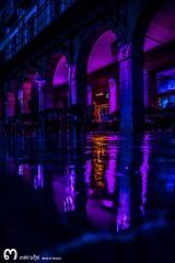 Plaza Mayor (Len) (ma_rohe) Tags: nightphotography reflection colors night plazamayor puddles reflejos reflects charcos