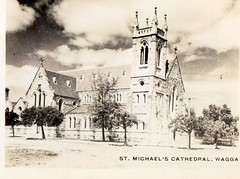 St. Michael's Cathedral Wagga (Daddys 'lil Girl) Tags: postcard australia nsw historical 1949 wagga albury riverina