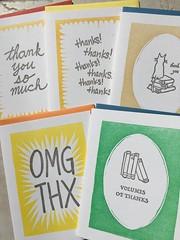 Five letterpress thank you cards (artnoose) Tags: orange set thanks cat cards berkeley thankyou you books collection note thank card envelope linocut etsy letterpress greeting a2 wholesale envelopes linoblock