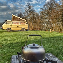 129/366 (scott.simpson99) Tags: camping vw outdoors countryside derbyshire kettle stove van camper campsite hulmeend iphone6