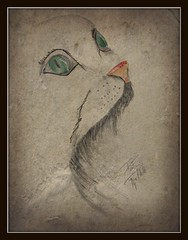 Cat (patrick.verstappen) Tags: art animal cat watercolor painting paper photo yahoo google nikon image painted pat sigma gouache fabriano acryl facebook picassa gingelom ipernity d7100 pinterest ipiccy picmonkey