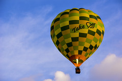 Take off (tenich) Tags: sky balloons fire hotair balloon australia hotairballoon canberra hotairballoons inthesky