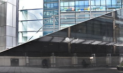 prohibition (Harry Halibut) Tags: blue windows red people reflection art public yellow vent estate place air railway images seats marble fleet allrightsreserved clad londonbuildings londonarchitecture imagesoflondon colourbysoftwarelaziness publicartinlondon 2016andrewpettigrew london1604271377