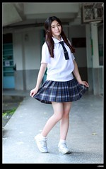 nEO_IMG_DP1U3805 (c0466art) Tags: school light portrait cute girl beautiful face canon naughty high nice eyes uniform pretty action outdoor quality young taiwan figure lovely pure 1dx c0466art