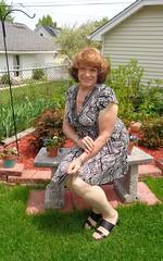 Just Me Being Me (Laurette Victoria) Tags: woman pose garden dress auburn laurette