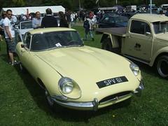 E Type Jag (Bennydorm) Tags: auto england people car yellow automobile fast vehicle british motor jaguar 1960s spectators exciting madeinengland kendal etypejaguar crooklands