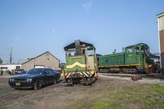 EMD, Mack, Dodge (Nick Gagliardi) Tags: railroad black train river trains western dodge chrysler mopar pup mack challenger sw1 brw switcher emd sw1500 20ton sw1200rs bdrv