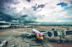 Epic sky (Minh Chanh) Tags: sky cloud airplane airport bangkok wide