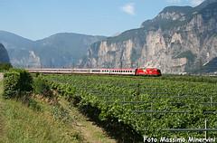 Brennerbahn! (Massimo Minervini) Tags: trenes brenner siemens rail taurus trentino railroads trainz ec eurocity locomotiva vigneti salorno e190 tororosso canon400d ec80 brennerbahn lineadelbrennero e190obb lineaveronabrennero