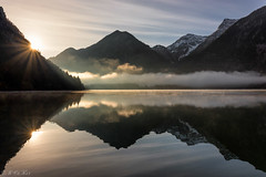 Lake Heiterwang - version 2 (MC-80) Tags: misty sunrise austria tirol sterreich mood nebel tyrol sunstar mistysunrise heiterwang heiterwangersee nebelstimmung