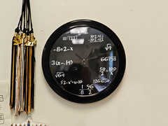097 clock (jasminepeters019) Tags: school clock time expression timepiece math ticktock equations precal 100shoot