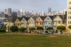 Painted Ladies (joscelyn_p) Tags: sanfrancisco california ca houses homes colors skyline architecture canon colorful exterior view victorian row fullhouse sanfran paintedladies lightroom